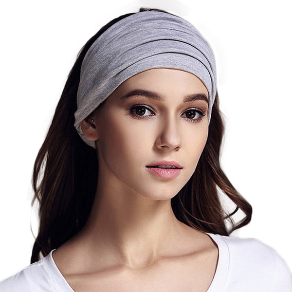 100% Cotton Wide Elastic Headband Sports Turban Headbands for Women Soft Headwear Variety of Wear Method Girls Hair Accessories