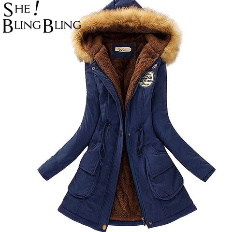 Autumn Warm Winter Jacket Women Fashion Women  39 s Fur Collar Coats  Jackets for 12d9abd9f