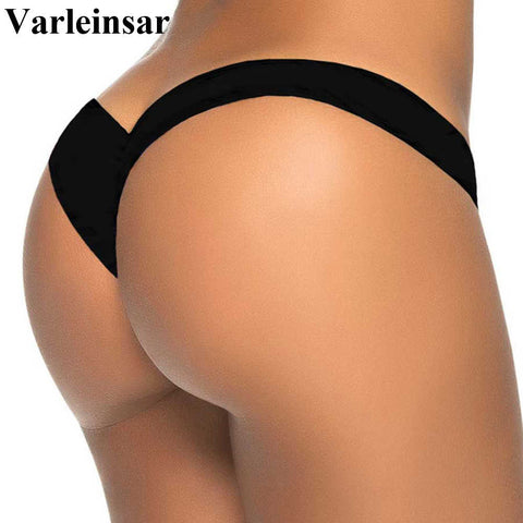 2017 new V shape sexy brazilian bikini bottom women swimwear thong swimsuit trunk tanga micro briefs Panties Underwear V87