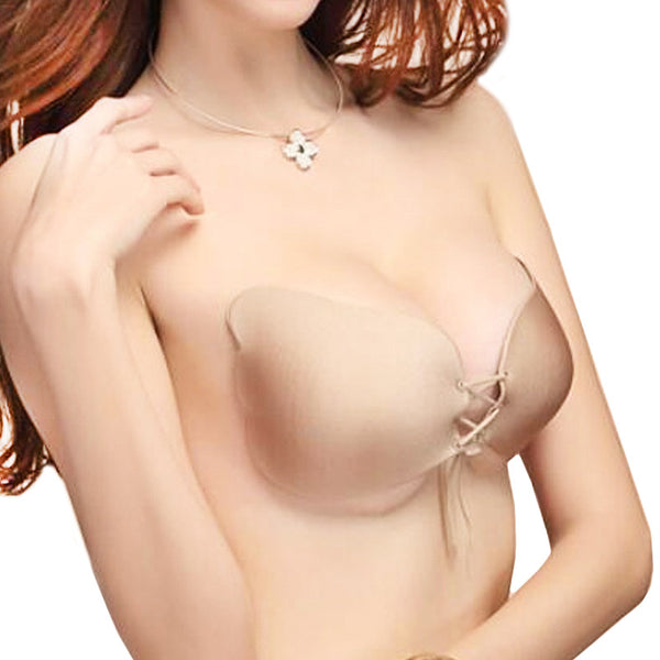 1 pc Sexy Women Strapless Backless Seamless Invisible Bra Self-Adhesive Push Up Free Stick On Wedding Dress Silicone Bra