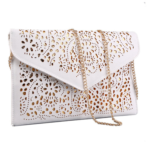 Hollow Out Shoulder Bags Crossbody Day Clutches Messenger Women Bag Ladies Handbags Vintage Style Chain Envelope Bag