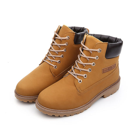 Fashion Women Boots Martin Style Women Ankle Boots New Big Size Men Boots zapatos Mujer Botas shoes woman 36~46