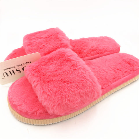 Design Fashion Women Slippers Home Indoor Plush Slippers Female Shoes Comfortable Fur Ladies Slides Chaussure Femme