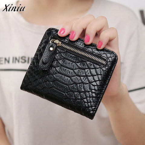 2016 New fashion women wallets short small bag lovely purse clutch with zipper Card Holder Handbag Bag Small Female Purse