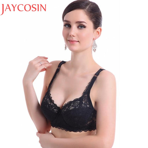 2962d153ee Sexy Lingerie Bralette Women Fashion Push Up Bras Ultrathin Underwire Lady  Padded Lace Brassiere Bra Appliques