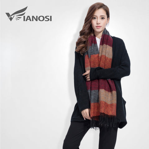 aac206f6f5 [VIANOSI] Fashion Brand Winter Scarf Women Designer Pashmina Shawls and  Scarves Soft Foulard Bufandas