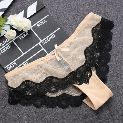 2193ba5e59c 1PC Soft Breathable Sexy Women Panty Low-Rise Knickers Hollow Briefs Ultra  Thin Underwear Lace