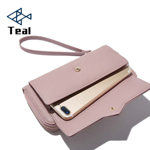 fa9fd00fd692 Women Wallets Women Purse Female Wallet Pu Leather Soft Long Wallets Chain  Purse Large Capacity Luxury