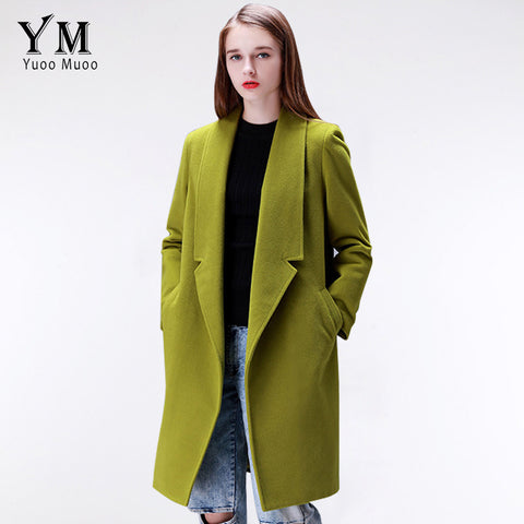 YuooMuoo Brand Design Winter Coat Women Warm Cotton-padded Wool Coat Long Women's Cashmere Coat European Fashion Jacket Outwear