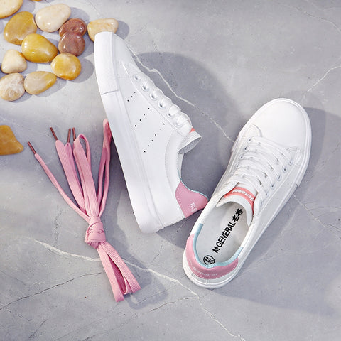 M.GENERAL Women White Shoes 2018 Spring New Female Casual Shoes Fashion Sneakers Zapatillas Deportivas Mujer Blue Pink Red 35-40