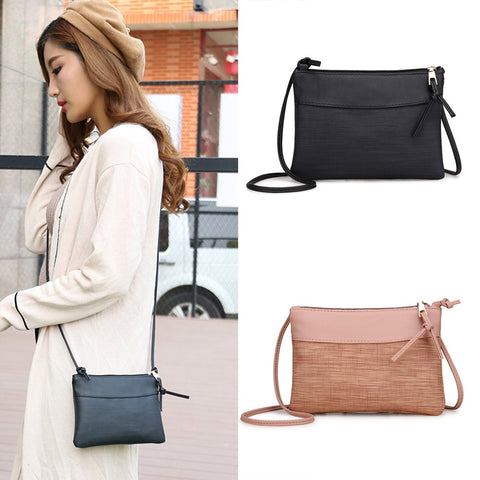 Female Bag PU Leather Fashion Mini Retro Shoulder Bags Zipper Vintage Messenger Bags Small Tote Handbag Purse Droship 10Jul 6