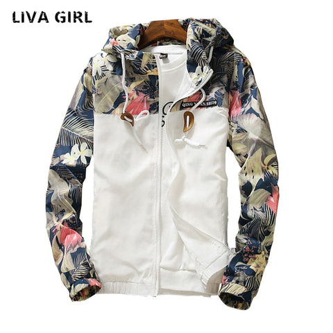 liva girl 11.11.2018 floral white women jacket winter warm bomber jacket women clothing coat sweater windbreaker plus size 5xl