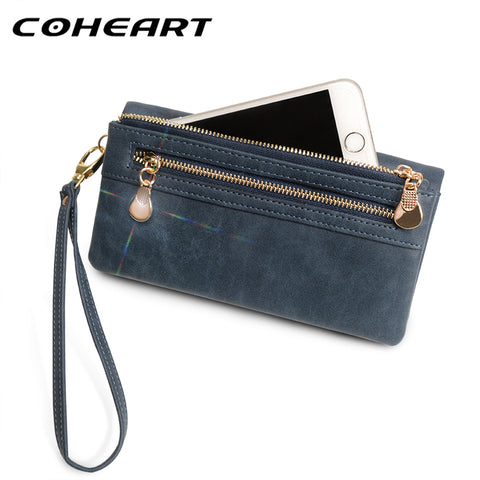 COHEART Wallet Women Fashion Female Purse dull polish leather pu Top Quality Female Wallet Multifunction big capacity Purse !