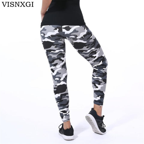VISNXGI Brands Women Leggings High Elastic Skinny Camouflage Legging Spring Summer Slimming Women Leisure Jegging Leisure Pants