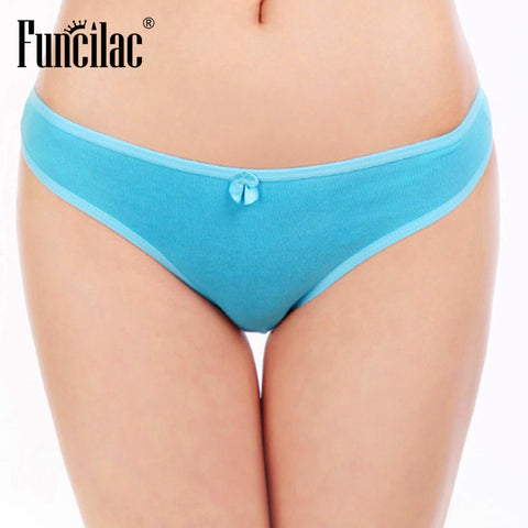 FUNCILAC Sexy Lady Thongs G-String Women Bikini Panties String Woman Culotte Femme Coton Thong Panties Womens Underwear 1 piece