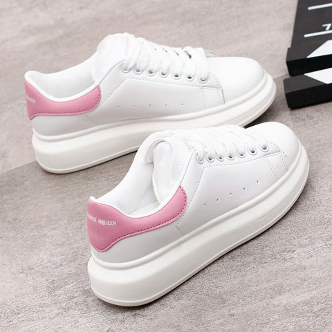 2018 Spring New Designer Wedges White Shoes Female Platform Sneakers Women Tenis Feminino Casual Female Shoes Woman