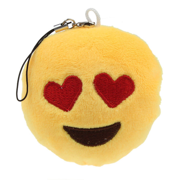 Keychain Cute Emoji Smiley Emoticon Amusing Key Chain Holder Keyring Soft Toy Gift for Women Men Pendant Bag Accessory Feida