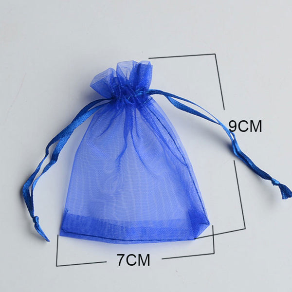 50pcs/bag Selection 24 Colors Jewelry packaging Drawable Organza Bags 7x9cm,Gift Bags & Pouches,Packing bags free shipping