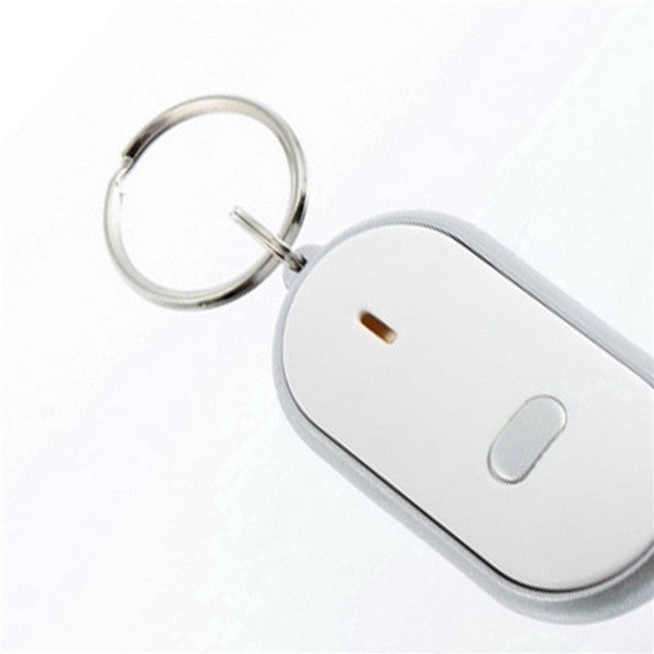 1PC White LED Key Finder Locator Find Lost Keys Chain Keychain Whistle Sound Control Hot Selling
