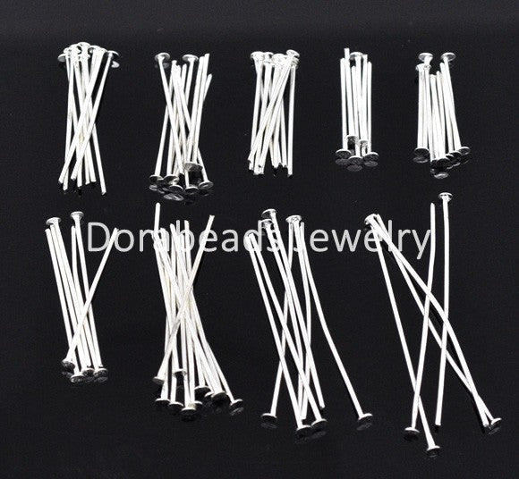 DoreenBeads 900 PCs Mixed Silver Plated Head Pins Findings 0.7mm(21 gauge) (B04116), yiwu