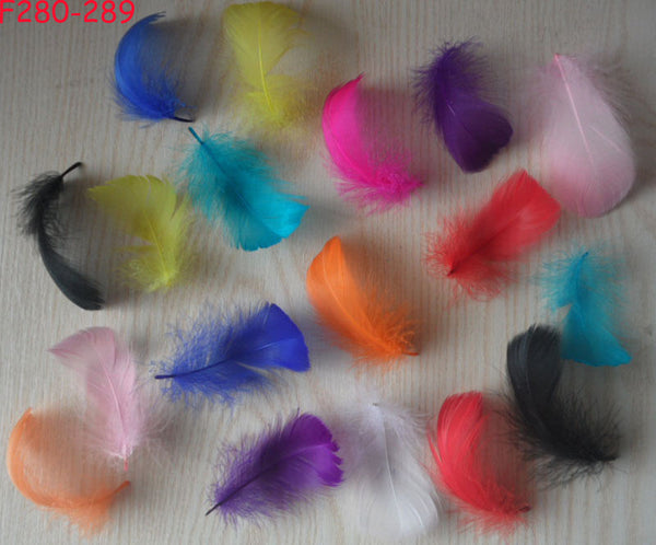 100 pcs Natural Feather colored feathers DIY Dreamcatcher decoration colorful goose feather material 10 cm  jewelry accessories