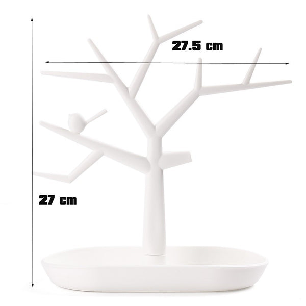 2015 New Multifunctional Tree Branch Shape White color Jewelry Display Earring Bracelet Necklace Ring Display stand for earrings