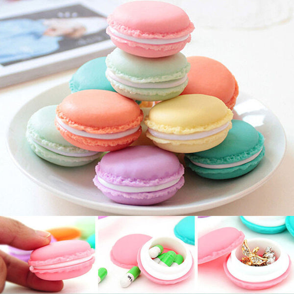 Gifts For Girls Round Jewelry Box Mini macaron case Storage for Necklace Earring jewelry organizer Table decoration