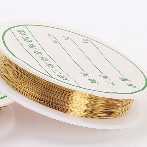 0.2 50M/Roll Copper Wire To Bead Diy Bracelet Earring Making Cords Beading Wire Schmuckdraht Jewelry Findings Brass Rope 1pc/lot