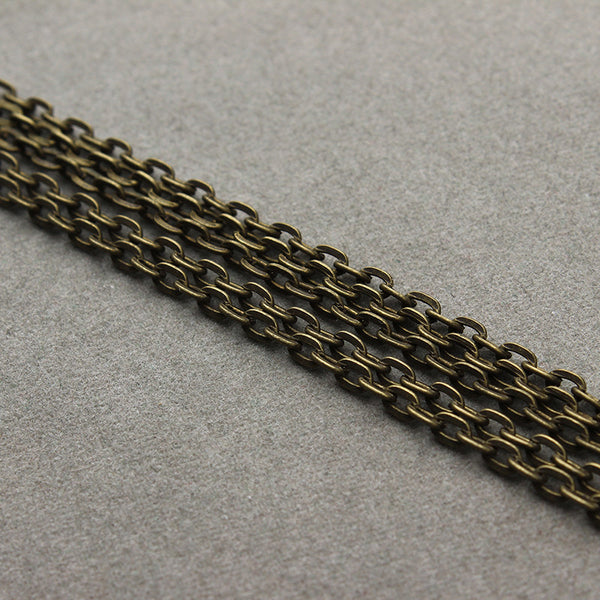10 Meters/lot New Antique Bronze/Gold/Silver/Gunblack/Copper/Rhodium Plated Bulk Rolo Link Chains Fits DIY Jewelry Findings F712