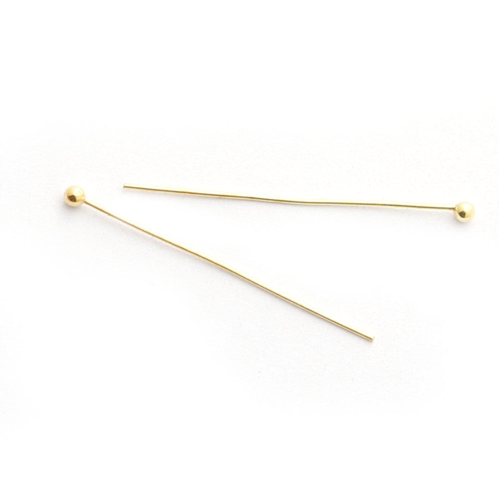 0.5*25mm 500pcs/bag jewelry findings gold/rhodium/kc gold/silver plated ball head Pins findings