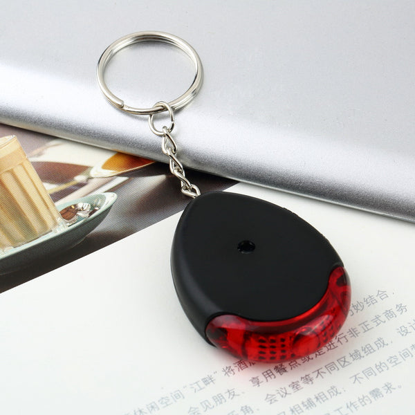 1 Pc LED Light Torch Key Finder Lost Locator Whistle Remote Sound Control key chain Keychain Key ring Hot Selling