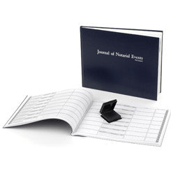 SOFT COVER NOTARY JOURNAL WITH INK PAD (CLEAN PRINT SYSTEM)