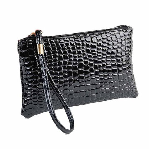 Handbags New Fashion Casual Women Bags Crocodile PU Leather Clutch Handbag Bag Female Purse Bolsa