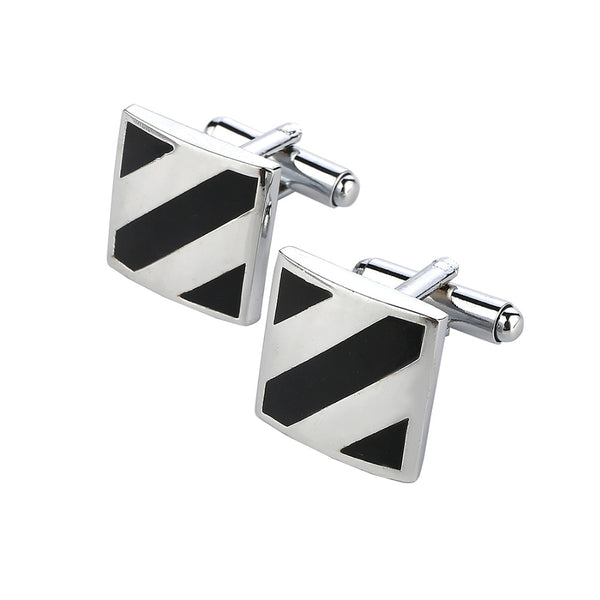 High Quality Hot Sale Brass Stamping Gemelos Mens Black Desinger Famous Brand Cross Luxury Custom Enamel Cufflinks Male