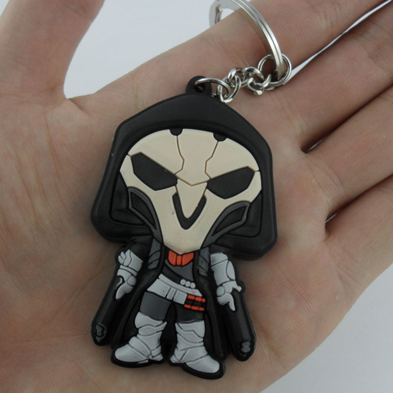 2016 Game Overwatch Keychain Tracer Reaper OW key chains Blizzard Reaper Winstion Key Ring Widowmaker Holder chaveiro llaveros