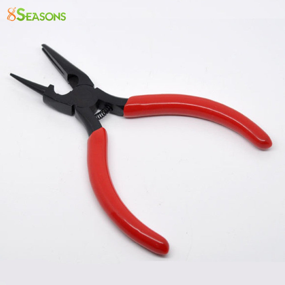 8SEASONS Hot Sale High Quality Red Round Nose and Concave Pliers Beading Jewelry Hand Tool (B08925) 12.5cm Long 8Seasons
