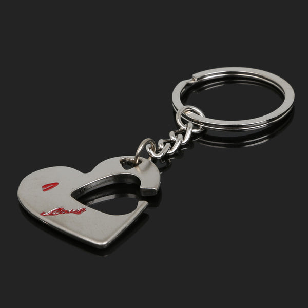 An arrow through the heart Keychain lover's gift friendship gift Fire Key Rings Holder Souvenir For Lovers Couple Gift Chaveiro