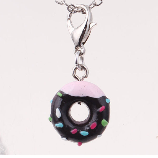 2016 new  mini keychain donut chain beautiful porte clef key llaveros this key ring for children gift jewelry  car keychain