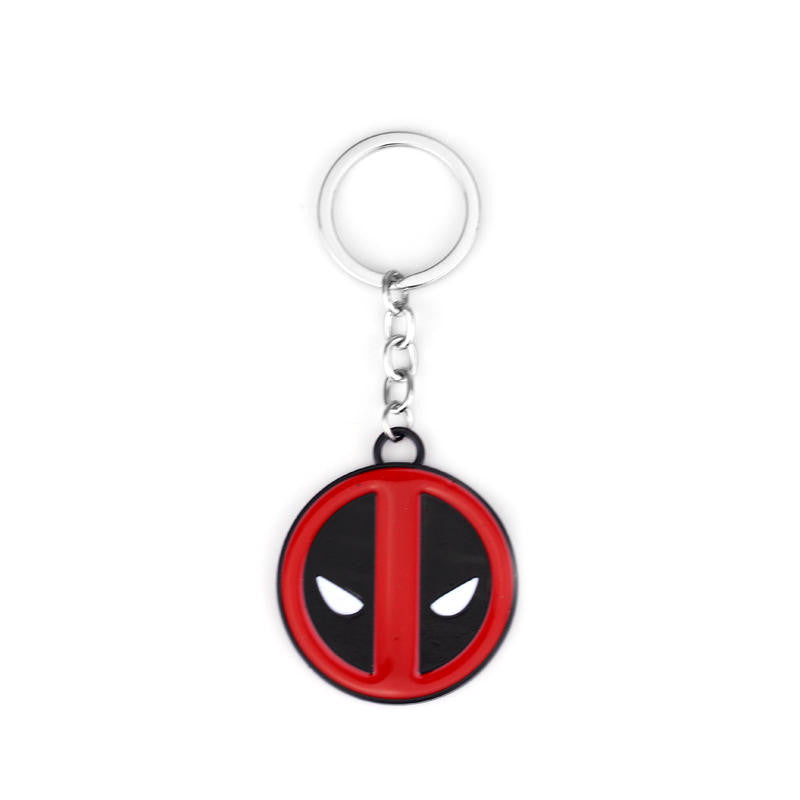 New Arrival Movie Deadpool Metal Keychain Pendant Key Chain Chaveiro Letter Logo Keyring