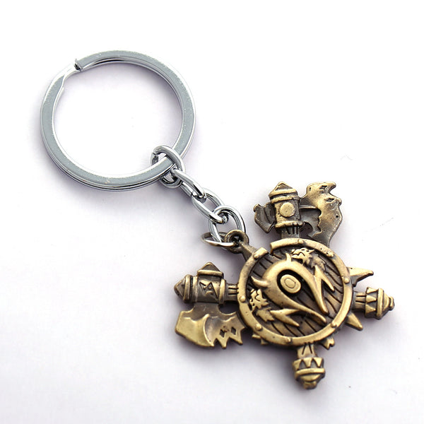 MS World Warcraft Key Chain Orcish Horde Tribe Key Rings For Gift Chaveiro Car Keychain Jewelry game Key Holder Souvenir