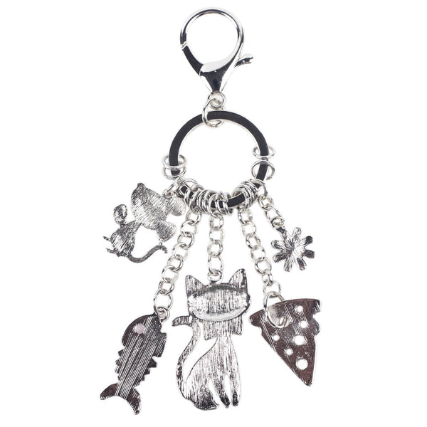 Bonsny 2016 Fish Mouse Cat Marvel Alloy Key Chain For Women Girl Decorative Keychain Charm Pendant Jewelry Trinket Bag Aceessory