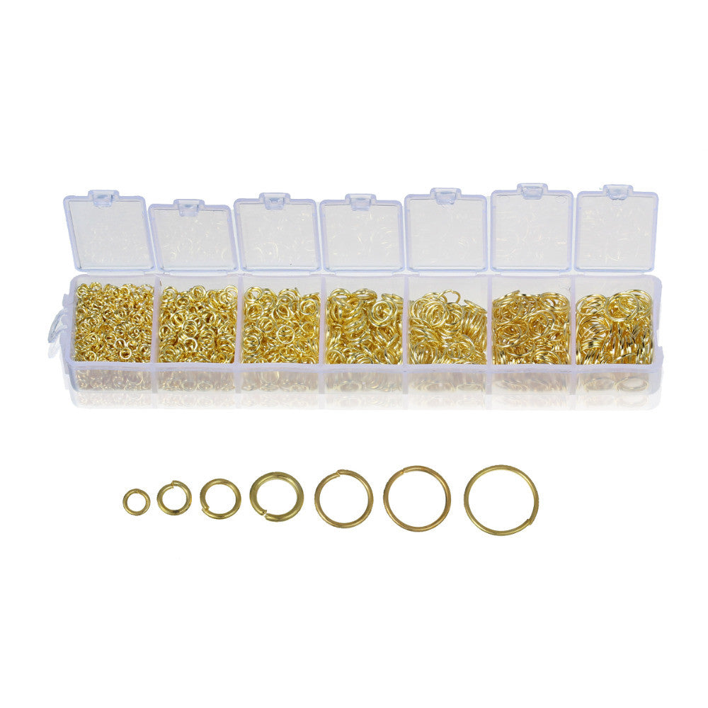 DoreenBeads Lovely 1 pack GP Open Jump Rings 3mm-9mm(1780 PCs Assorted) (B09843)