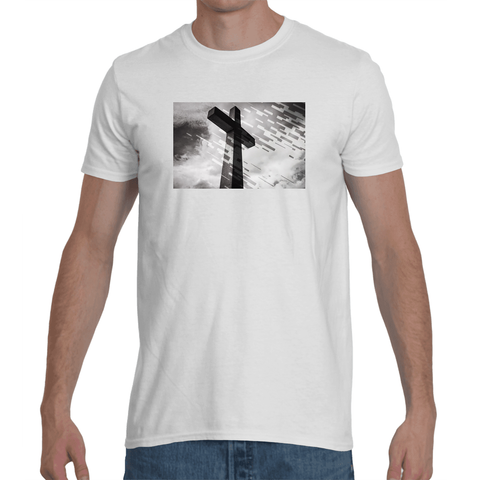 Cire Revolution Cross Rain Graphic T-shirt in white