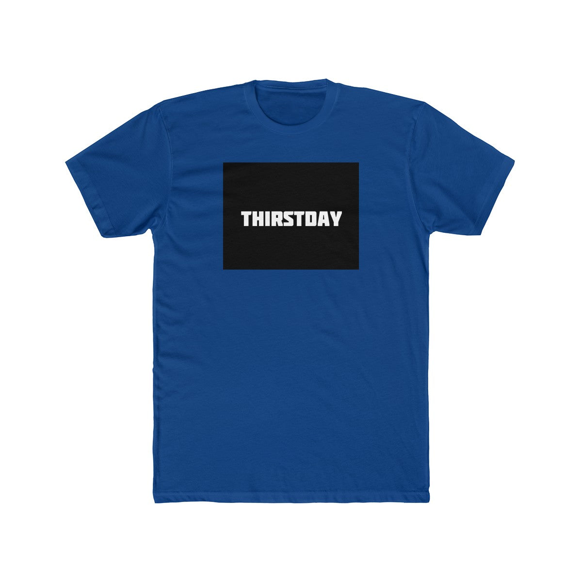 Cire Revolution Thirstday Crew Neck Tee - Royal Blue