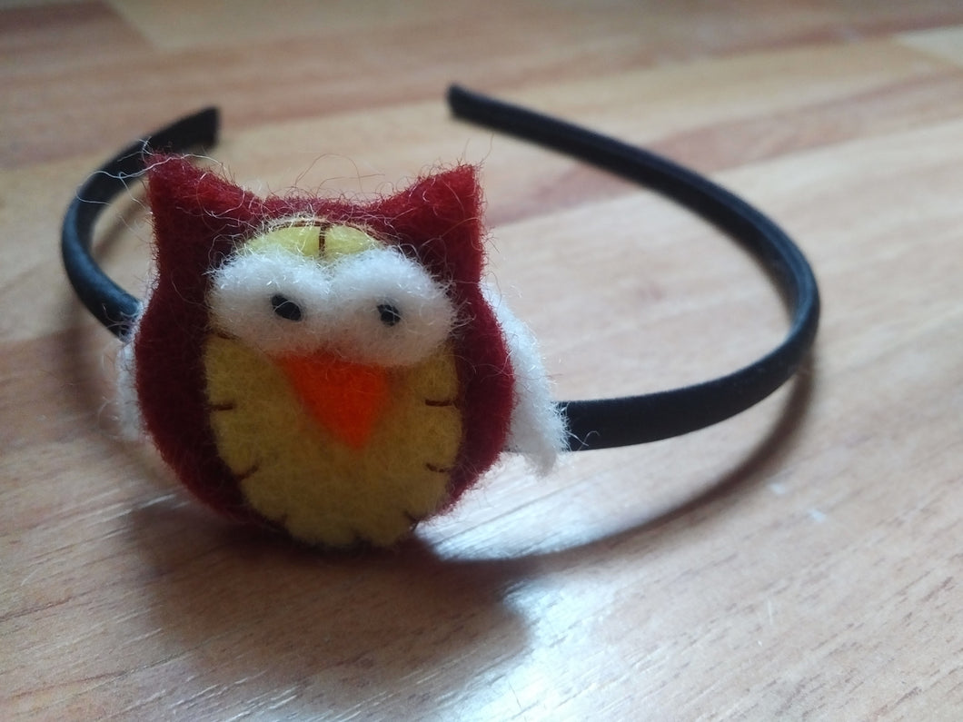 Rigid headband: Owl
