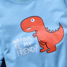 """Wanna Be My Friend?"" Dino Long Sleeve 2-Piece Set"
