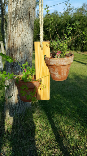 Potted Plant Hanger Small (Golden Pecan)
