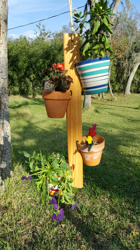 Potted Plant Hanger Long(Golden Pecan