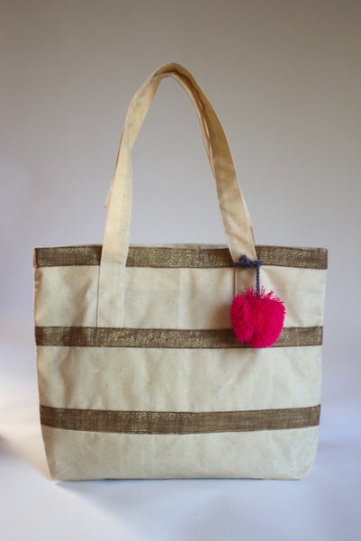 Golden Stripe Tote