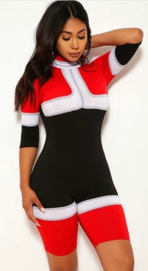 Go Racer Jumpsuit - Red - Foxy And Beautiful